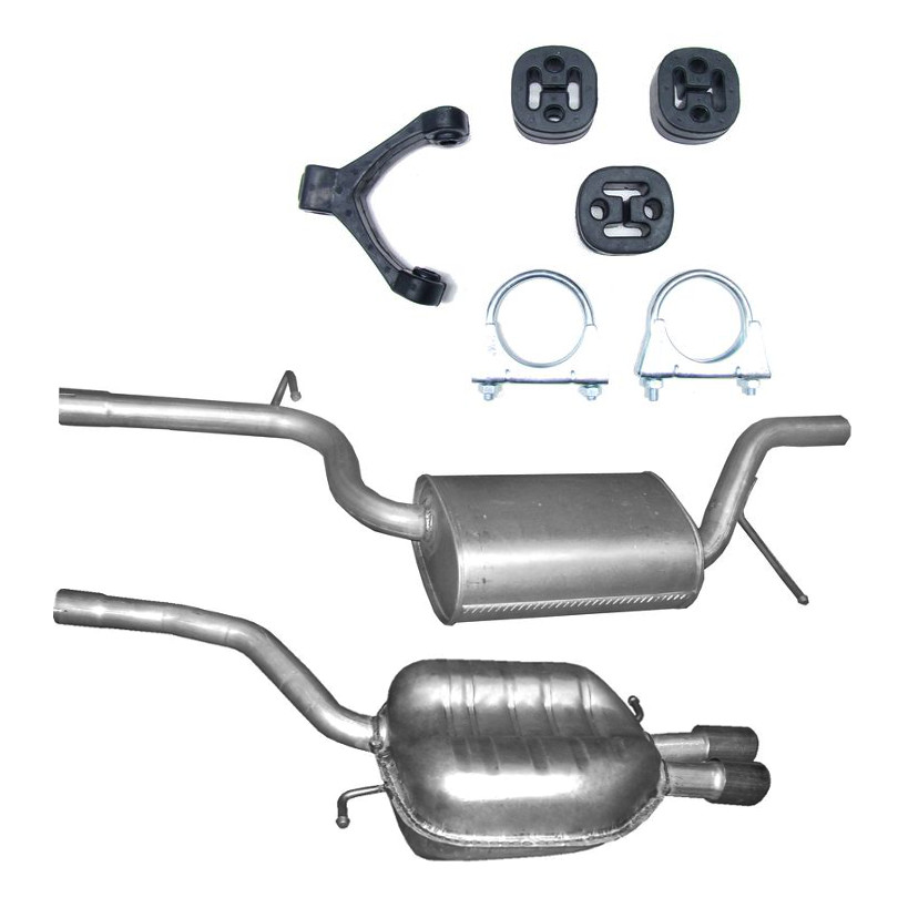 ANBAUSATZ Variant 1.8-2.0 Endschalldämpfer  Auspuff VW Passat Limousine